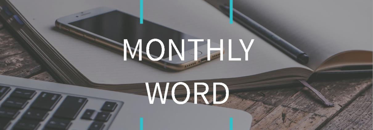 Monthly Word June, 2021
